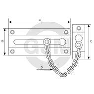 ABUS SK84 M - Příslušenství ke dveřím