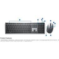 Dell Premier KM7321W - CZ/SK - Set klávesnice a myši