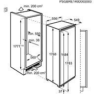 AEG Mastery SKE818E9ZC - Vestavná lednice