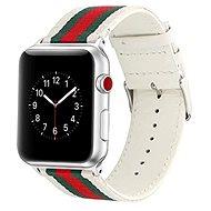 Eternico 38mm / 40mm Nylon Band bílo červený pro Apple Watch - Řemínek