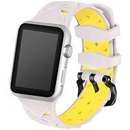 Eternico 42mm / 44mm Silicone Band béžovo žlutý pro Apple Watch - Řemínek