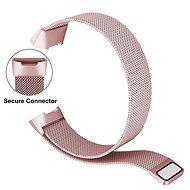 Eternico Fitbit Charge 3 / 4 Steel růžový (Small) - Řemínek