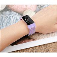 Eternico Canvas fialový (Small) pro Fitbit Charge 3 / 4 - Řemínek