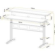 AlzaErgo Table ET3.1 bílý - Výškově nastavitelný stůl