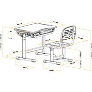 AlzaErgo Table ETJ100 růžový - Dětský stůl