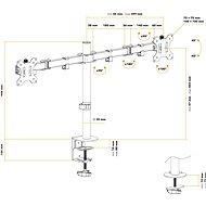 AlzaErgo Arm D15B - Držák na monitor