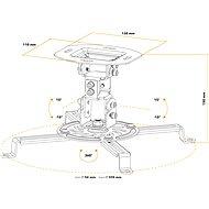AlzaErgo Projector Mount C10B černý - Stropní držák