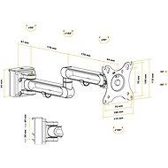 AlzaErgo Slatwall SWAS410 Držák bílý - Držák