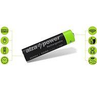 AlzaPower Rechargeable HR03 (AAA) 1000 mAh 4ks v eko-boxu - Nabíjecí baterie