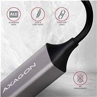 AXAGON ADE-TRC, USB-C>GLAN, Metal Gray - Síťová karta