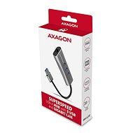 AXAGON HMA-GL3AP, USB-A > GLAN & 3-port Hub, Metal Silver - Síťová karta