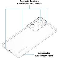 AlzaGuard Crystal Clear TPU Case pro Samsung Galaxy S21 Ultra 5G - Kryt na mobil