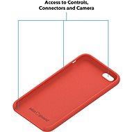AlzaGuard Premium Liquid Silicone Case pro iPhone 7 / 8 / SE 2020 červené - Kryt na mobil