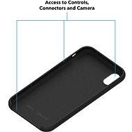 AlzaGuard Premium Liquid Silicone Case pro iPhone Xr černé - Kryt na mobil