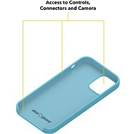 AlzaGuard Premium Liquid Silicone Case pro iPhone 12 mini modré - Kryt na mobil