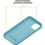 AlzaGuard Premium Liquid Silicone Case pro iPhone 12 / 12 Pro modré - Kryt na mobil