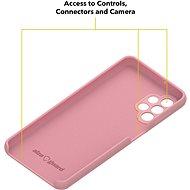 AlzaGuard Premium Liquid Silicone Case pro Samsung Galaxy A32 5G růžové - Kryt na mobil