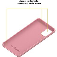 AlzaGuard Premium Liquid Silicone Case pro Samsung Galaxy A51 růžové - Kryt na mobil