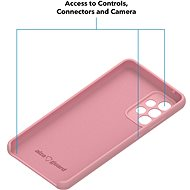 AlzaGuard Premium Liquid Silicone Case pro Samsung Galaxy A52 / A52 5G / A52s  růžové - Kryt na mobil