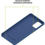 AlzaGuard Premium Liquid Silicone Case pro Samsung Galaxy A71 modré - Kryt na mobil