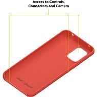 AlzaGuard Premium Liquid Silicone Case pro Xiaomi Mi 10 Lite 5G červené - Kryt na mobil