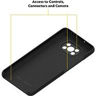AlzaGuard Premium Liquid Silicone Case pro Xiaomi POCO X3 černé - Kryt na mobil
