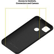 AlzaGuard Premium Liquid Silicone Case pro Xiaomi Redmi 9C černé - Kryt na mobil