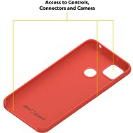 AlzaGuard Premium Liquid Silicone Case pro Xiaomi Redmi 9C červené - Kryt na mobil