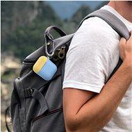 AhaStyle kryt Airpods 1 & 2 s karabinou modro/žlutý - Pouzdro na sluchátka