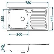 ALVEUS Basic 170 fi 90 - Nerezový dřez