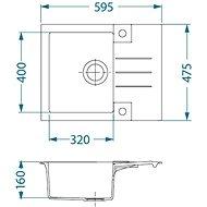 ALVEUS Rock 30 G - 81 beton - Granitový dřez