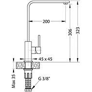 ALVEUS PRUNUS 20 91 + baterie AFRA 91 - Set dřezu a baterie