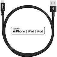 AlzaPower AluCore Lightning MFi (C89) 1m černý - Datový kabel