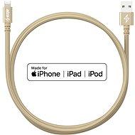 AlzaPower AluCore Lightning MFi (C89) 1m zlatý - Datový kabel