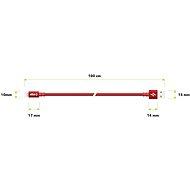AlzaPower AluCore Lightning MFi (C89) 1m červený - Datový kabel