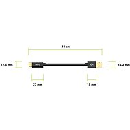 AlzaPower Core Charge 2.0 USB-C 0.1m černý - Datový kabel