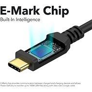 AlzaPower Core USB-C / USB-C 2.0, 5A, 100W, 2m černý - Datový kabel
