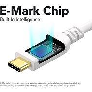 AlzaPower Core USB-C / USB-C 2.0, 5A, 100W, 2m bílý - Datový kabel
