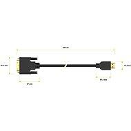 AlzaPower DVI-D na HDMI Single Link propojovací 3m - Video kabel