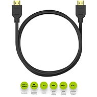 AlzaPower Core HDMI 1.4 High Speed 4K 1.5m černý - Video kabel