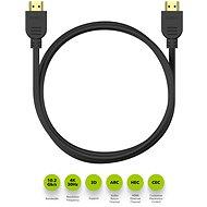 AlzaPower Core HDMI 1.4 High Speed 4K 2m černý - Video kabel