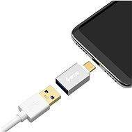 AlzaPower OTG USB-C (M) na USB-A 3.0 (F) stříbrná - Redukce