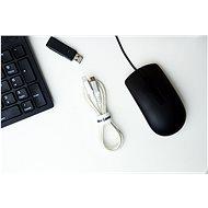 AlzaPower VelcroStrap+ Roll 1m bílá - Organizér kabelů