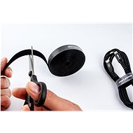 AlzaPower VelcroStrap+ Roll 5m černá - Organizér kabelů