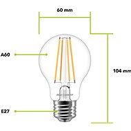 AlzaPower LED Classic Ambience 7W (60W), 2700K, E27, set 2ks - LED žárovka