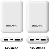 AlzaPower Onyx 5000mAh bílá - Powerbanka