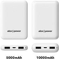 AlzaPower Onyx 10000mAh bílá - Powerbanka