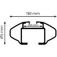AURILIS, střešní nosiče na integrované hagusy 112 cm - Střešní nosiče