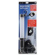 COMPASS Svítilna montážní 27+7LED nabíjecí 12/220V s magnetem - Svítilna