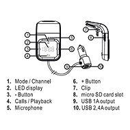 Hands free FM transmitter do mřížky - FM Transmitter